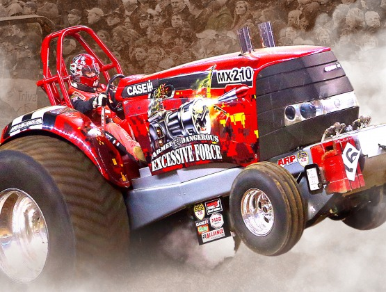 National Farm Machinery Show Tractor Pull at Freedom Hall